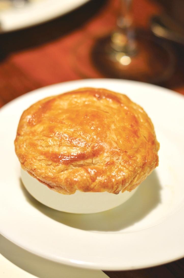 Triple sec pumpkin pecan pie, blue cheese foam(1)