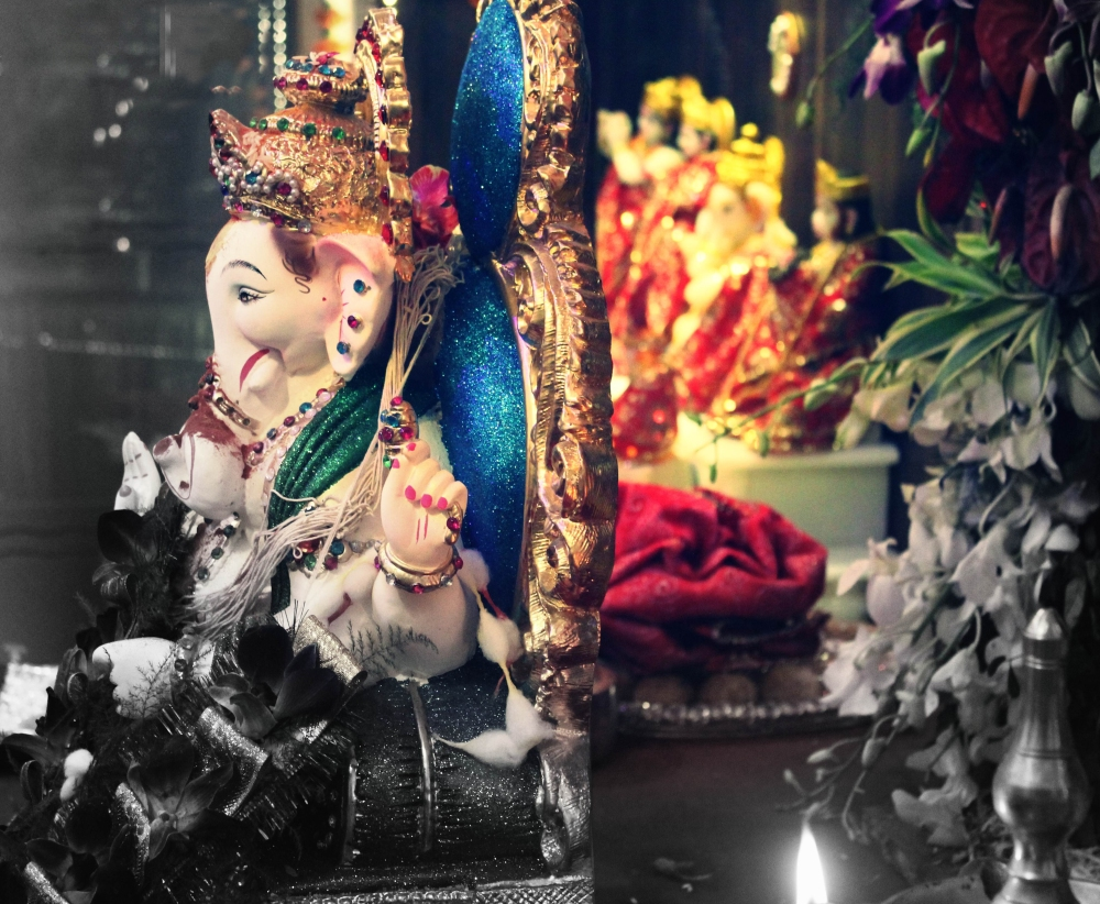 Ganesh idol at home